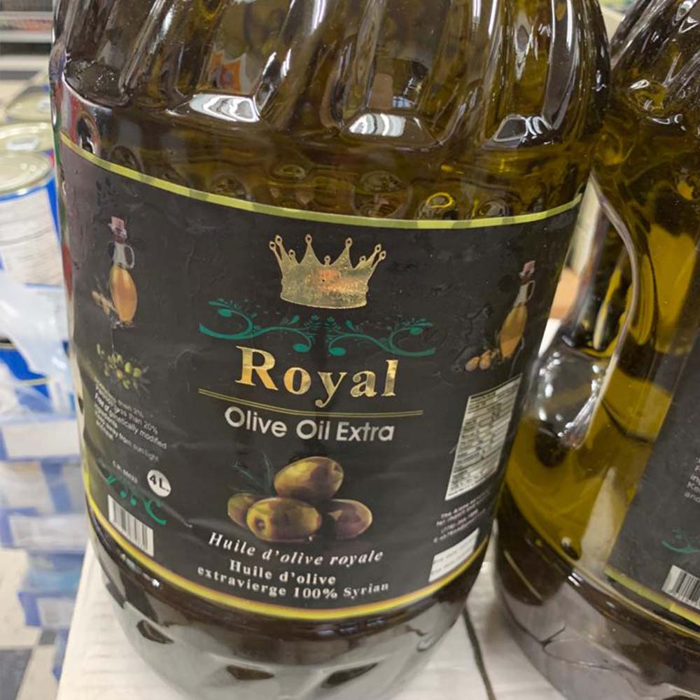 Royal Olive Oil Extra – 100% Syrian (4 L)